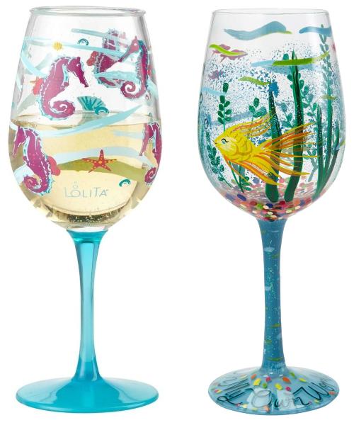 Beach Theme Wine Glasses