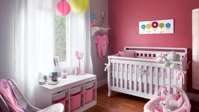 cuarto para bebé color rosa