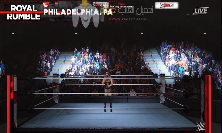 تحميل لعبة المصارعة WWE 2K19 للكمبيوتر برابط مباشر