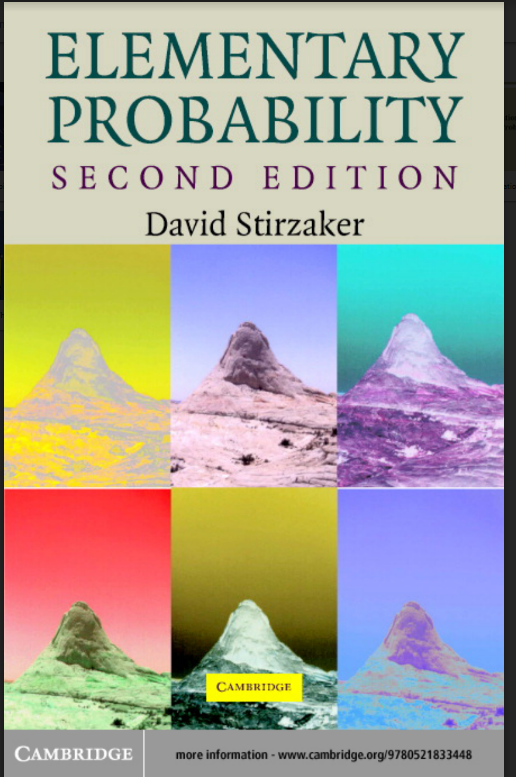 ELEMENTARY PROBABILITY SECOND EDITION DAVID STIRZAKER