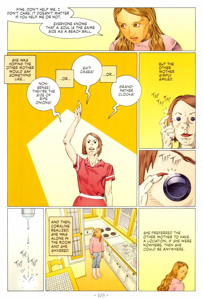 Read page 105, from Nail Gaiman and P. Craig Russell's Coraline graphic novel