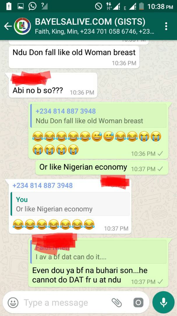 See chat between NDU Students that got everyone talking