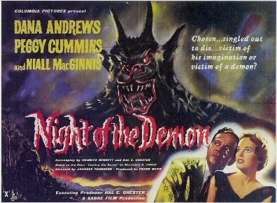 poster original de la noche del demonio