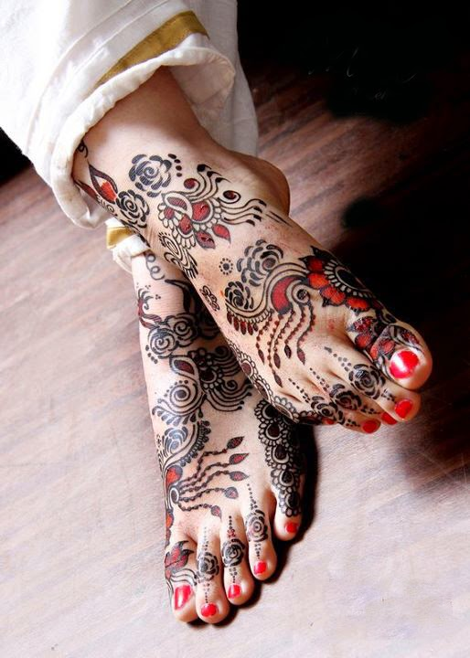 Bridal Mehndi Feet Wallpapers : Latest fashion trends bridal mehndi designs for feet