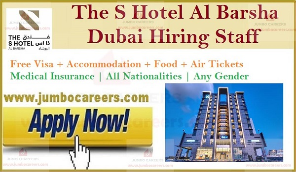 Hotel job openings in Gulf countries, Hotel jobs in Dubai with salary and benefits,