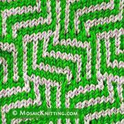 Maze Mosaic knitting stitch