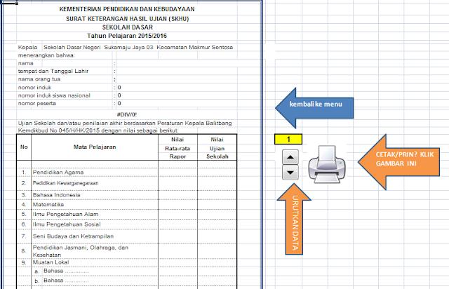 File Pendidikan Format/Aplikasi Penghitungan Dan Cetak Nilai Skhus/Ijazah Sd 2019