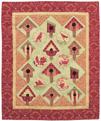 Quilt Inspiration Free Pattern Day Birds And Bird Houses
