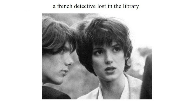 a french detective lost in the library