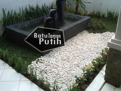 JUAL BATU KRIKIL PUTIH UNTUK TAMAN MINIMALIS JAKARTA