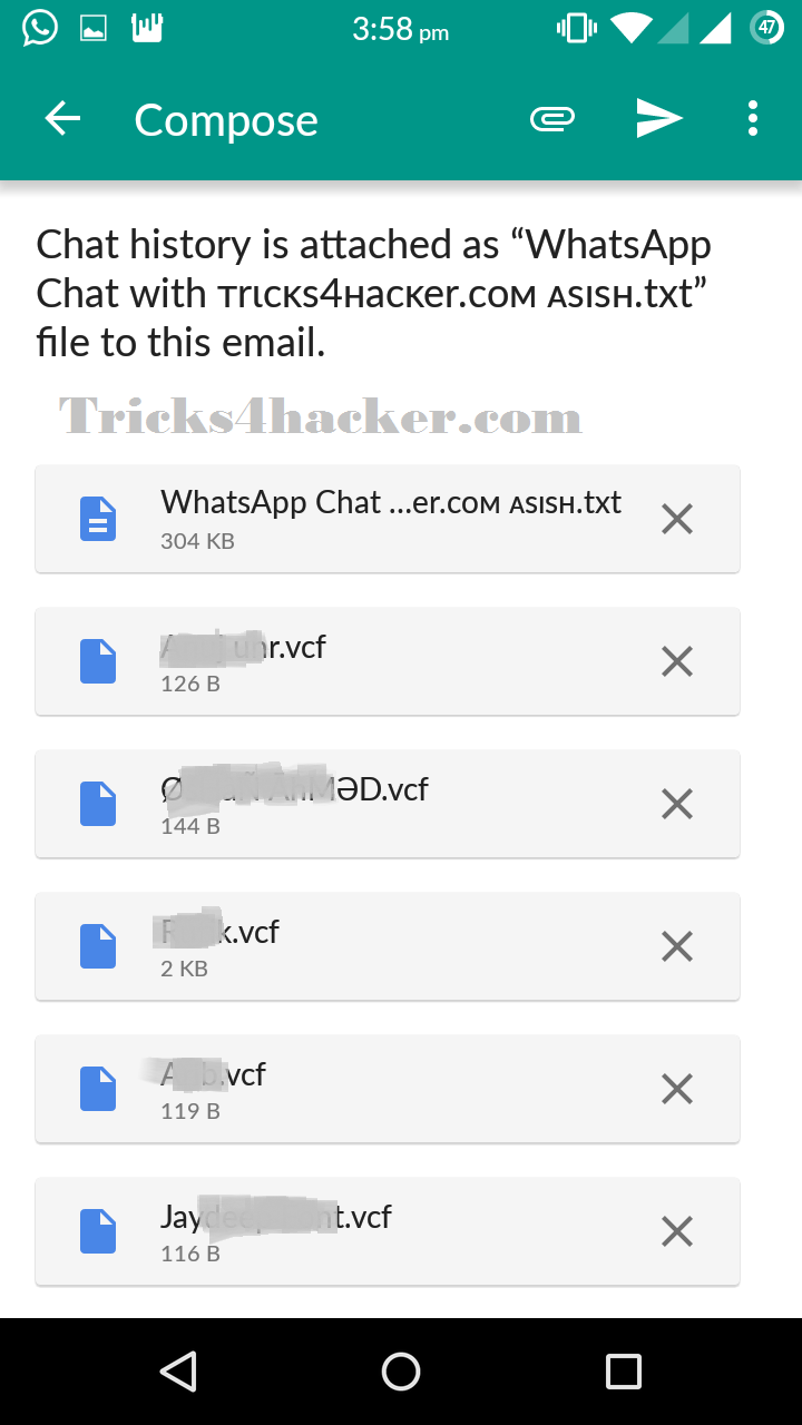 How To Save Whatsapp Chat In TEXT File And Also Take