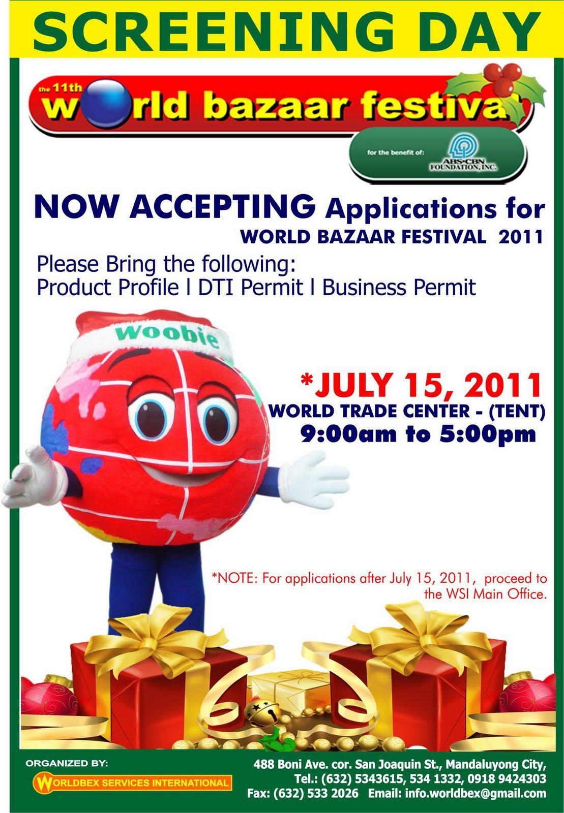Fashion Distributor Wholesalesarong Com Announces New: Manila Life: THE 11TH WORLD BAZAAR FESTIVAL ANNOUNCES
