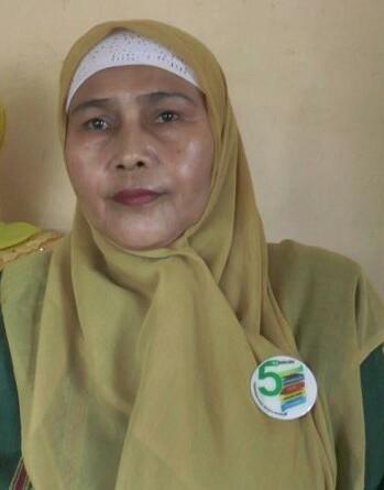 Kepala Sekolah MTS Negeri 2 Rantauprapat Nurmayanti memberikan keterangan.