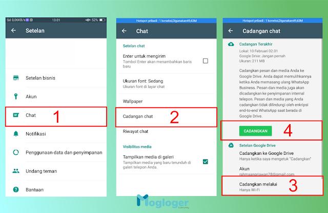 WA mempunyai fitur yang dinamakan dengan cadangkan Cara Backup dan Restore Semua Pesan Whatsapp Agar Tetap Ada di Android