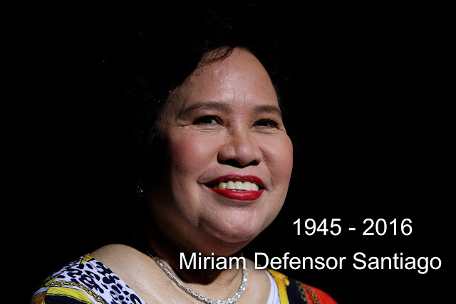 Sen. Miriam Defensor Santiago passes away