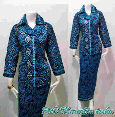 Desain Baju Batik Kerja Guru Wanita Hijab