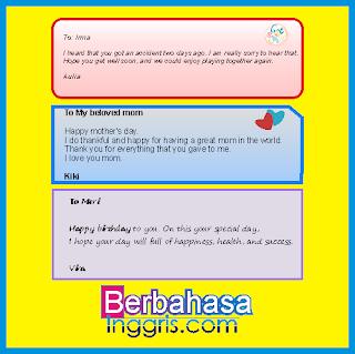 Pengertian dan 64 Contoh Greeting Card Bahasa Inggris Beserta Artinya