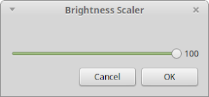 zenity 設定 Linux 光度圖示