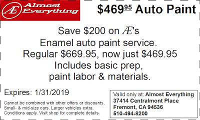 Coupon $469.95 Auto Paint Sale January 2019