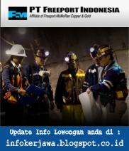 Lowongan Kerja Terbaru PT Freeport Indonesia November Desember 2017