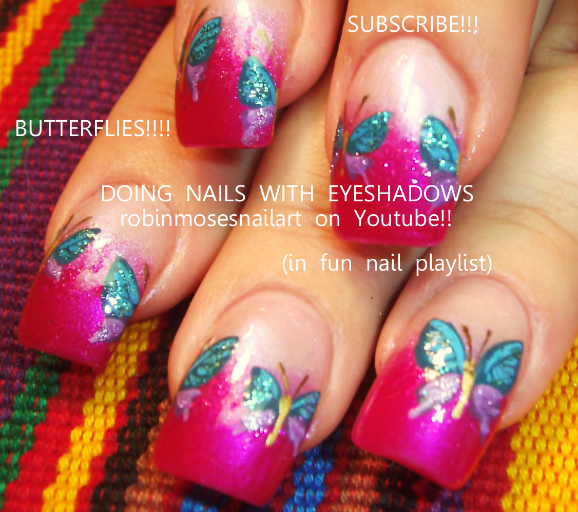 Nail Art by Robin Moses: mac reflects very pink swatch, how to paint ...
