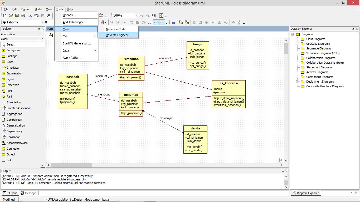 Tutorial mengconvert class diagram ke bahasa c koperasi simpan tutorial mengconvert class diagram ke bahasa c ccuart Choice Image