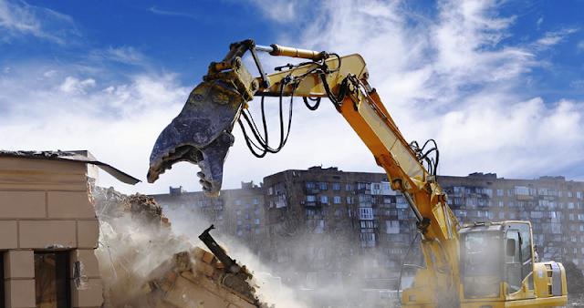 Halkalı yıkımcı, bina yıkım işleri