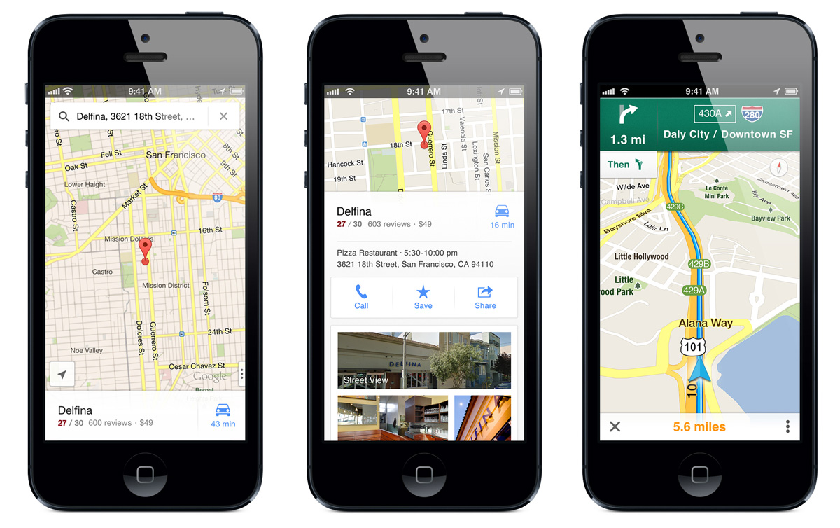 official google blog google maps is now available for iphone. Black Bedroom Furniture Sets. Home Design Ideas