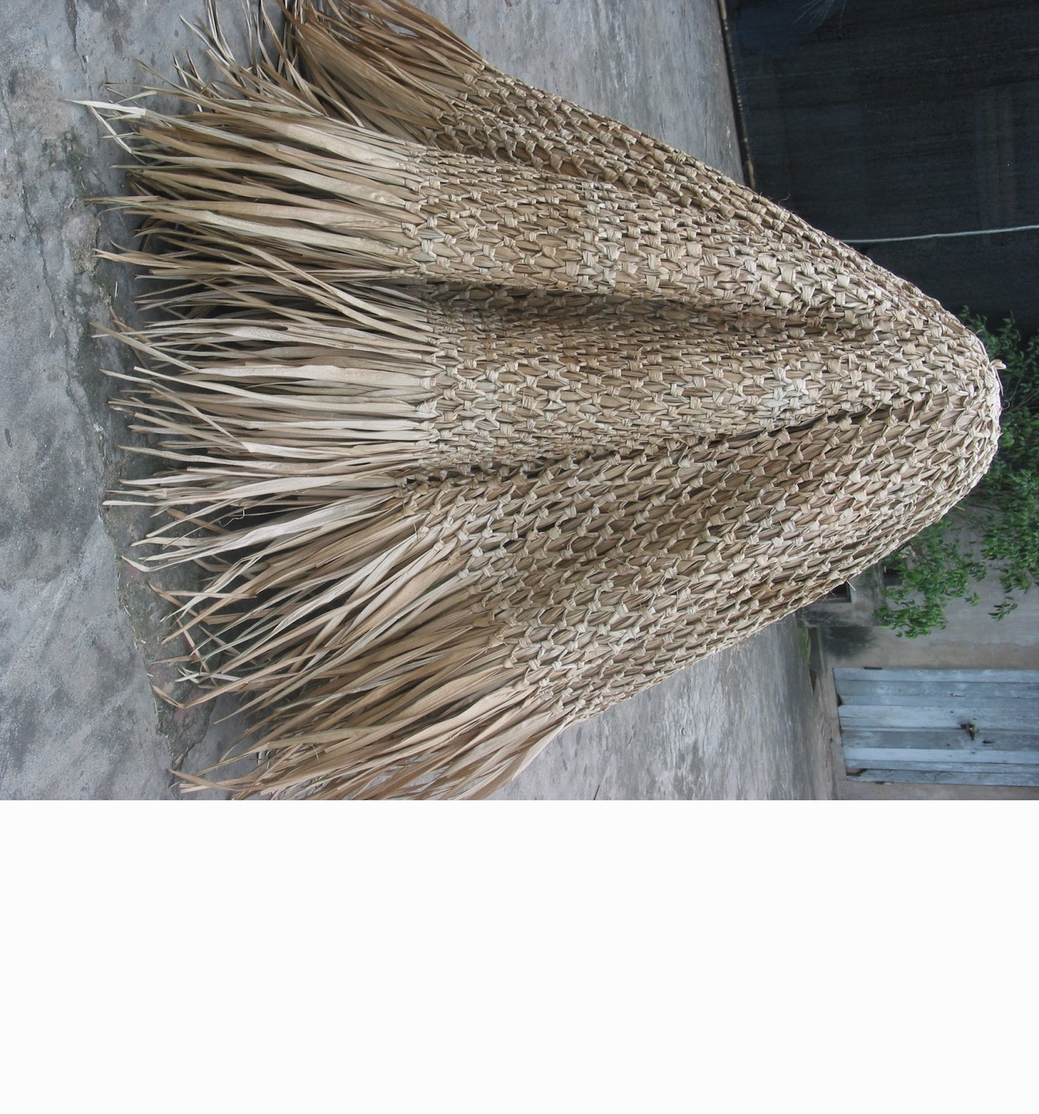 Hunt Duck Blinds Palm Thatch Panel Umbrella Cover Thatching Tiki Bar Decor Tropical Theme Building W Roof
