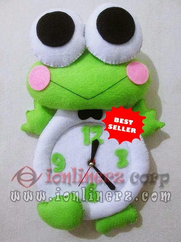 Jam Dinding Flanel Karakter Kartun Boneka Keroppi