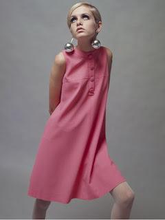 A modelo Twiggy, anos 60