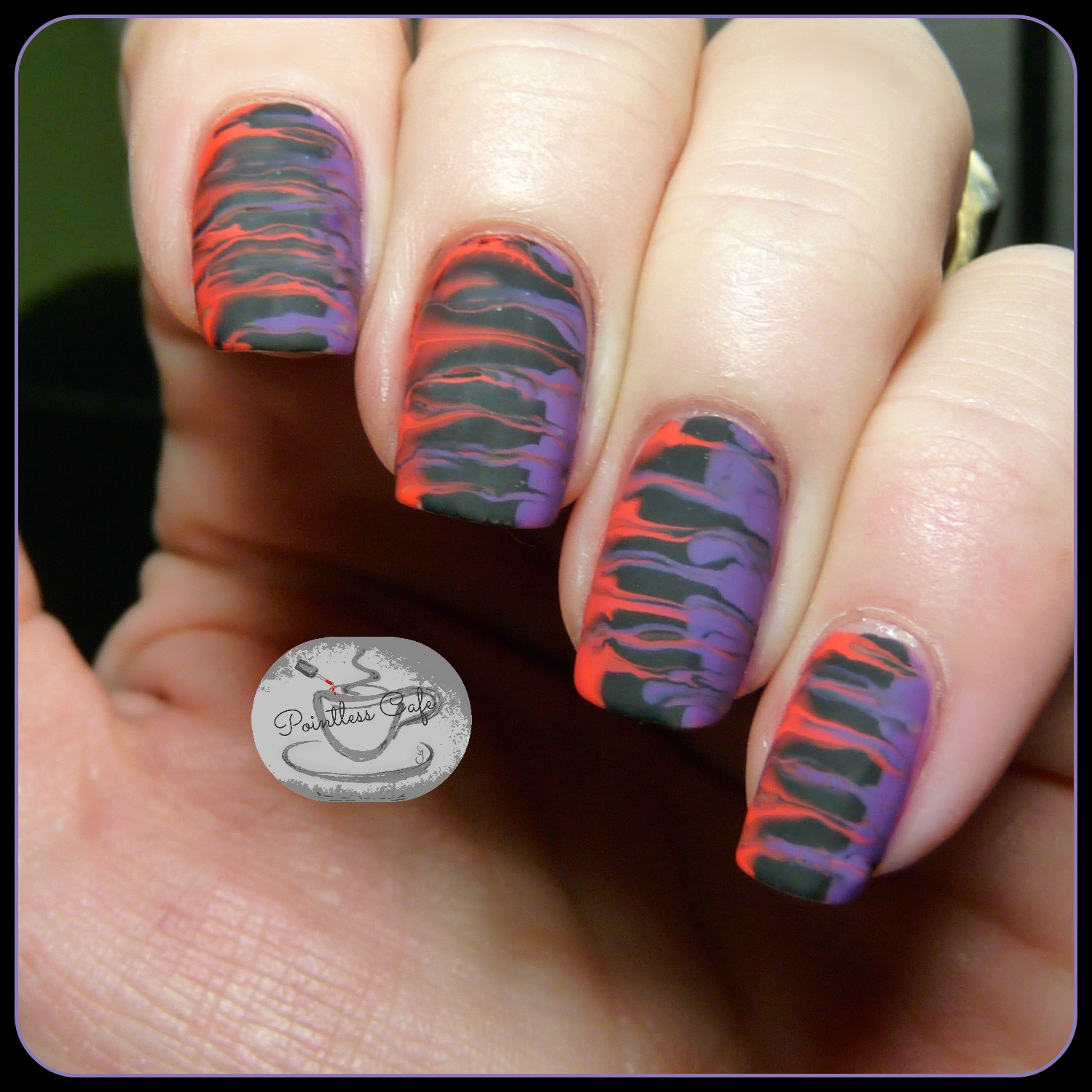 Simple Nail Art Using Toothpick: The Digit-al Dozen Spooky Days: Day 4