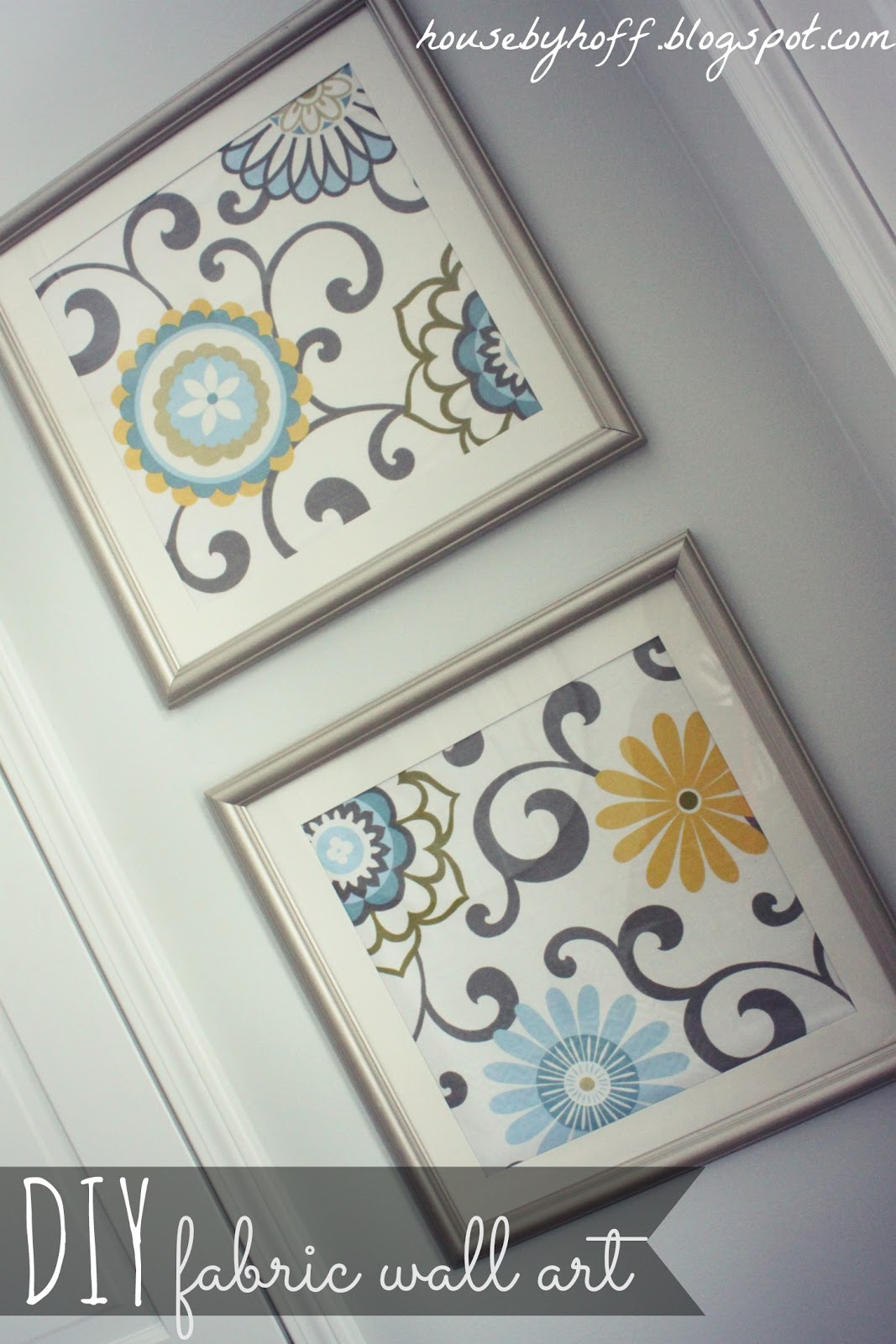DIY fabric wall art jp...
