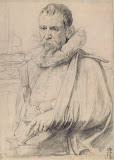 Portrait of Pieter Bruegel the Younger by Anthony van Dyck - Portrait Drawings from Hermitage Museum