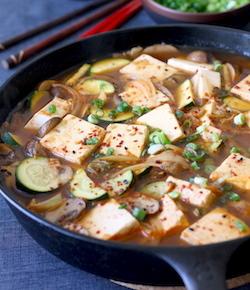 Vegetarian korean tofu stew recipe by seasonwithspice.com
