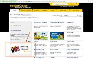 Cara Tukar Kad ATM/DEBIT Maybank Secara Online