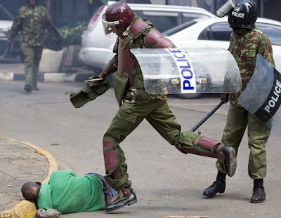 Violent Police in Uniforms who do not follow reforms. PHOTO  | Courtesy