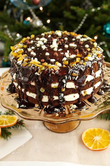 Tort makowy z pomarańczą