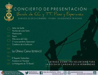 La Banda de Cornetas y Tambores de la Esperanza se presenta en Sevilla con la Exaltación