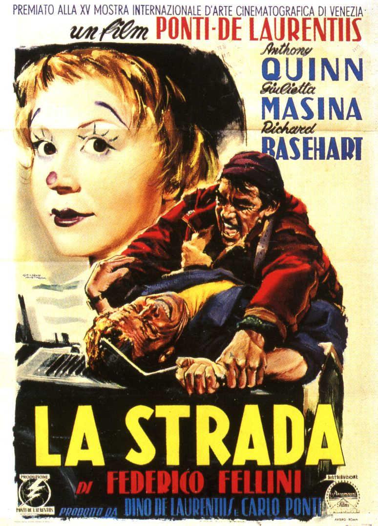 Cartel de la película : La strada (Federico Fellini, 1954) - Fuente imagen: Wikimedia; cc:by-sa; autor: Pabloglezcruz