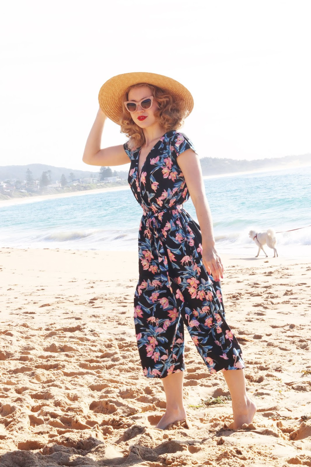 0e1d14a27bc Another new season piece from Hell Bunny's latest range, I am loving this  tropical print jumpsuit! Photos by Mum Outfit Details Florida Jumpsuit -  c/o Hell ...
