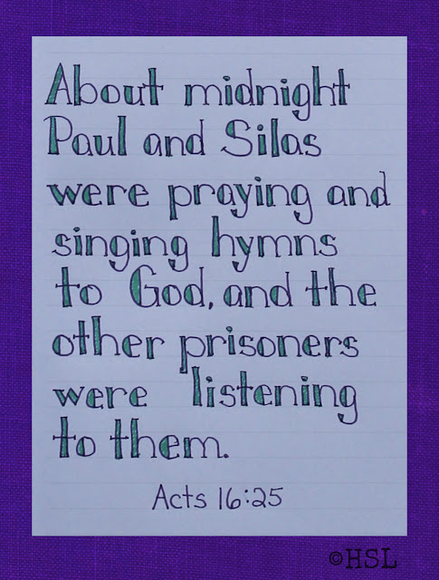 Scripture Writing, Acts 16:25