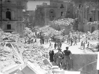 Bomb damage, Malta, 1942