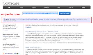 Cara Mengetahui Plagiat Artikel Website Kita
