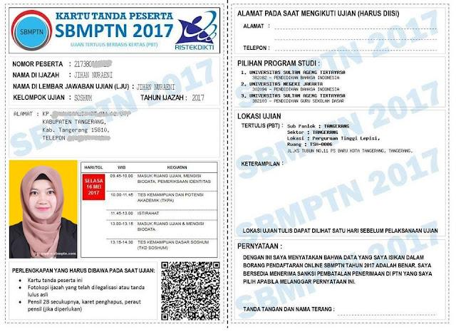Kartu Peserta SBMPTN yakni perlengkapan pertama dan yg paling yg harus adik bawa pad Cara Mencetak Kartu Peserta SBMPTN 2019/2018