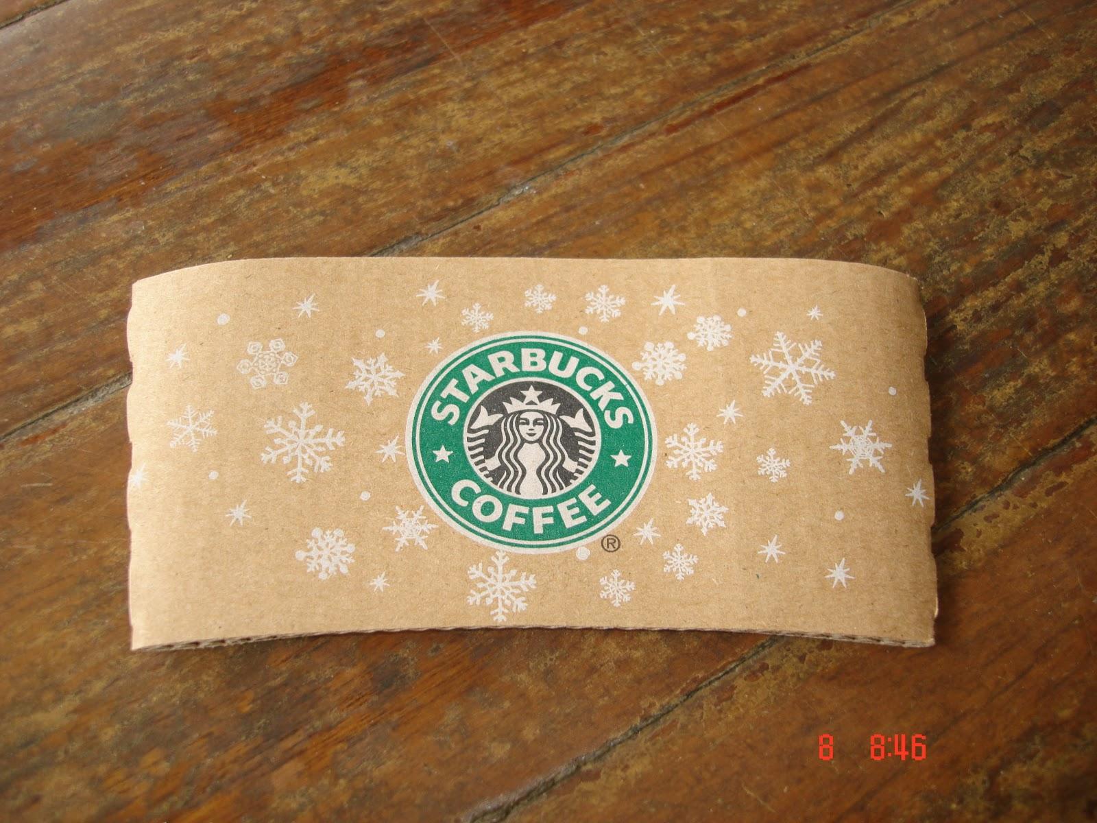 2010 Starbucks Christmas Paper Cup Sleeve