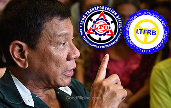LTO and LTFRB chiefs to comply with Duterte's order
