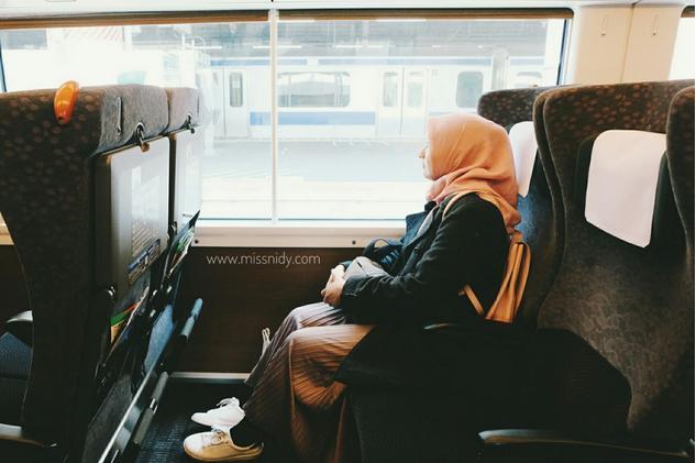 naik kereta green car di jepang