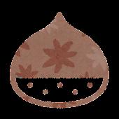 秋のマーク「栗」