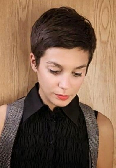 Pixie cut; I will probably end up having this for awhile... I think it would look super cute purple!